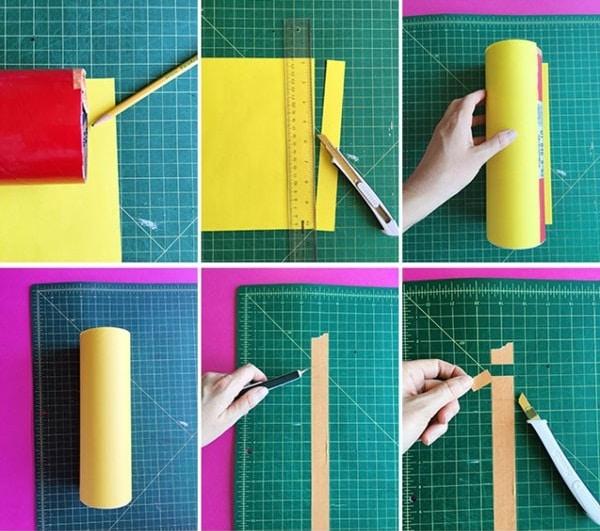 Cách làm ống cắm bút
