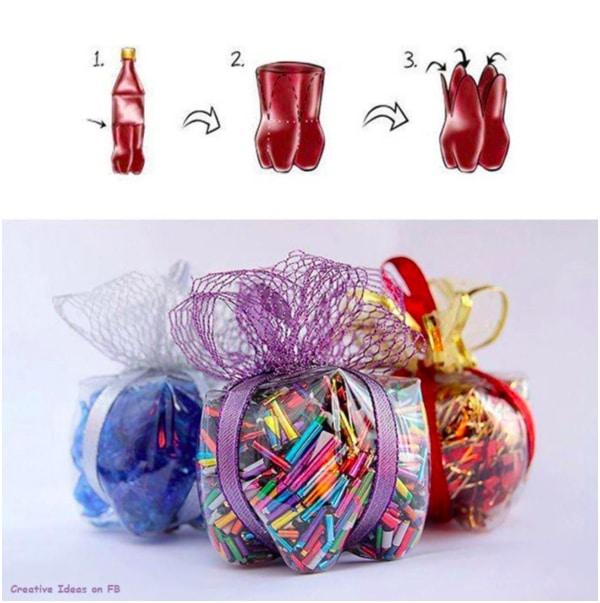 Hộp nhựa đựng quà từ vỏ chai coca