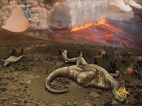 Bẫy Deccan gây ra sự tuyệt chủng của khủng long