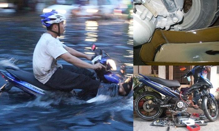 Cách sửa xe máy bị ngập nước