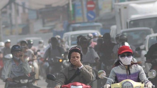 Khí thải xe máy, khói bụi từ xe máy làm ô nhiễm không khí