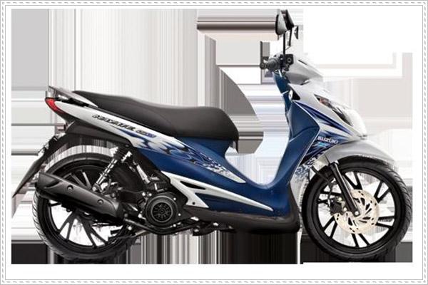 Suzuki Hayate 125 thiết kế mạnh mẽ với nhiều màu sắc