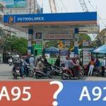 Đổ lẫn xăng A95 và A92 sẽ khiến động cơ hoạt động không trơn tru