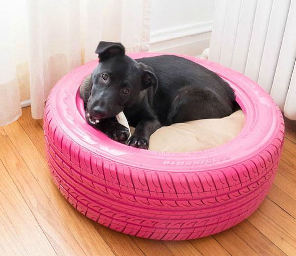 Giường cho thú cưng bằng lốp xe cũ