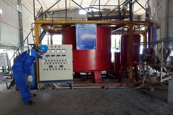 Tái chế dầu nhớt thải bằng phương pháp LSR10