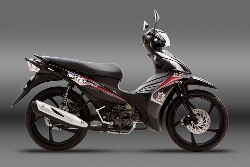 Suzuki Viva FI màu đen bạc mới bắt mắt và đẹp hơn