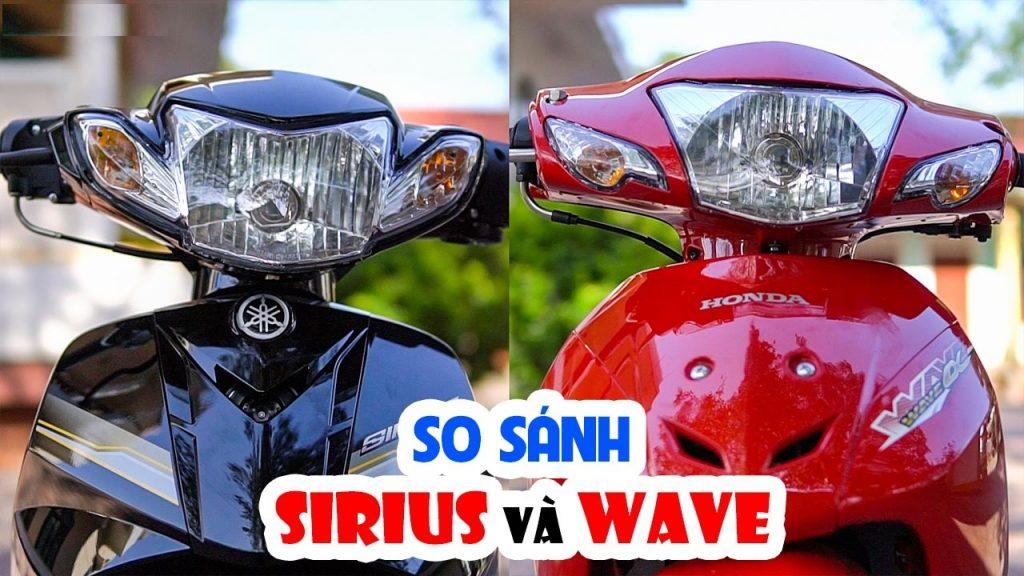 So sánh Wave Alpha với Yamaha Sirius - Nên mua xe nào?